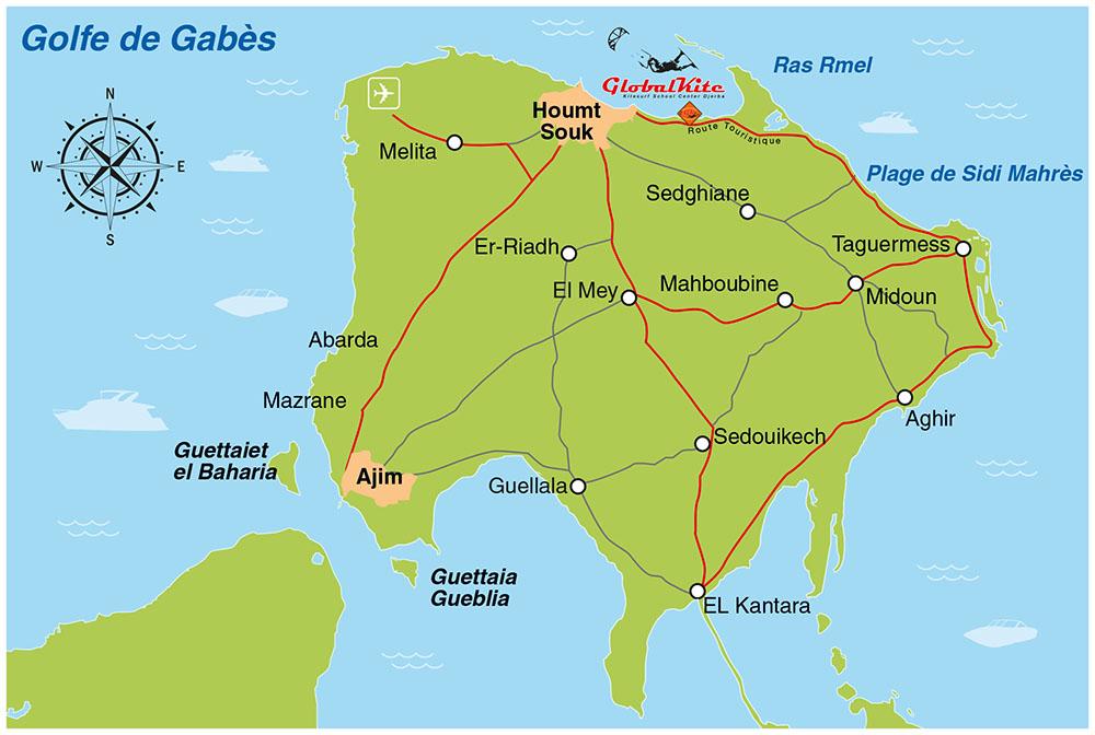 Carte de Djerba